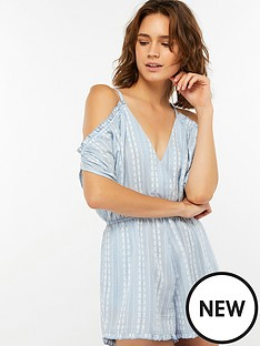 accessorize-seashells-stripe-cold-shoulder-playsuit-blue