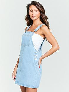 michelle-keegan-denim-pinafore-dress-light-wash