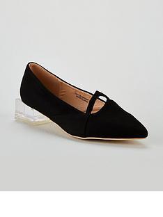 13145b2e4f34 Lost Ink Lost Ink Blair Clear Plastic Block Flat Shoe