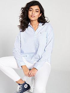 3834cc456df Tommy Jeans Cropped Boxy Shirt - Stripe