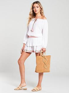 v-by-very-embroidered-bardot-tiered-beach-dress-white
