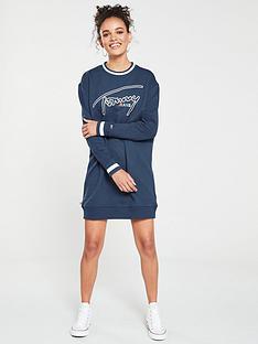 tommy-jeans-logo-sweatshirt-dress