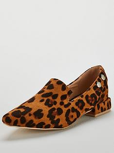 lost-ink-bonnie-double-stud-flat-shoe-animal