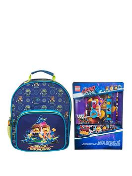 b2432bb51f LEGO The LEGO Movie 2 Deluxe Junior Backpack   Bumper Stationery Set ...