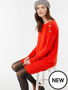 monsoon-monsoon-rosie-ribbed-button-shoulder-dress