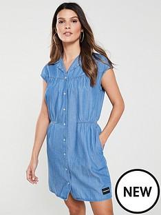 calvin-klein-jeans-cap-sleeve-western-dress-denim
