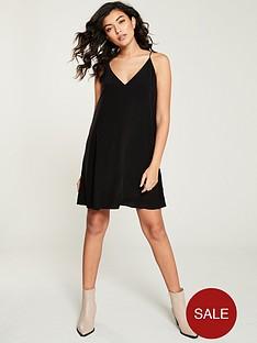 calvin-klein-v-neck-swingnbspdress-black