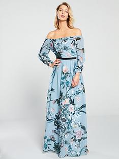 little-mistress-little-mistress-bardot-floral-printed-maxi-dress