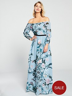 little-mistress-little-mistress-bardot-floral-printed-maxi-dress