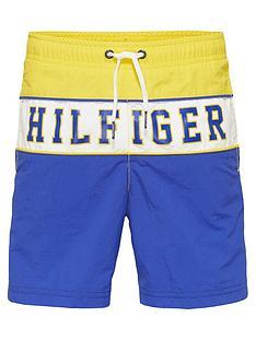 tommy-hilfiger-boys-colourblock-logo-swim-shortsnbsp--yellow