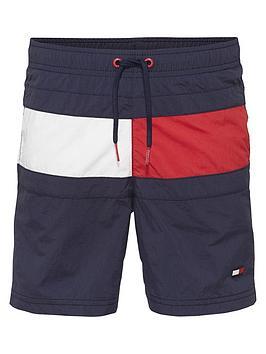 5eecc7f9d3 Tommy Hilfiger Boys Flag Swim Shorts - Navy | littlewoodsireland.ie