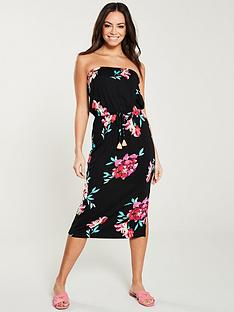 af252aa74a83d V by Very Tube Midi Dress - Floral Print