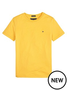 tommy-hilfiger-boys-short-sleeve-essential-flag-t-shirt-yellow
