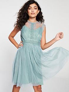 ffec400bde Little Mistress Mesh Skater Dress - Blue