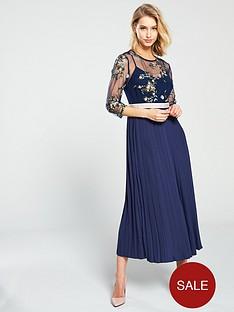 little-mistress-mesh-top-embroidered-midaxi-dress-navy