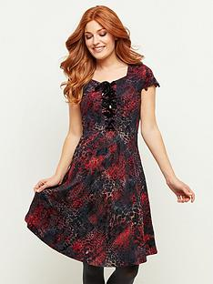 joe-browns-flocked-corsetting-dress