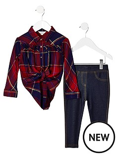 river-island-mini-girls-red-check-shirt-and-legging-outfit