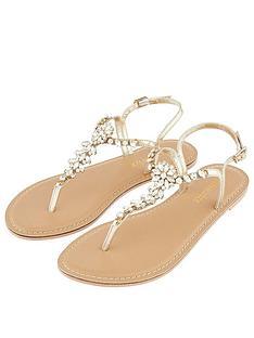 66dd9a0d0 Accessorize Rio Embellished Sandal - Gold