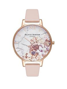 olivia-burton-olivia-burton-white-and-rose-gold-detail-marble-florals-big-dial-peach-leather-strap-ladies-watch