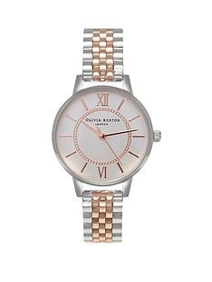 olivia-burton-olivia-burton-wonderland-silver-and-rose-gold-detail-midi-dial-two-tone-stainless-steel-bracelet-ladies-watch