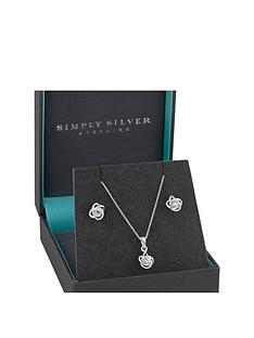jon-richard-sterling-silver-cubic-zirconia-knot-earring-pendant-set