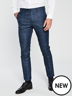 v-by-very-slim-fit-check-suit-trouser-blue