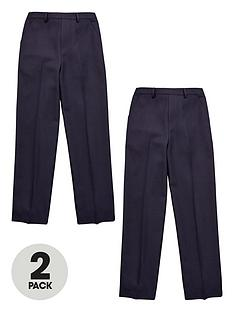 v-by-very-boys-2-pack-pull-on-school-trousers-navy