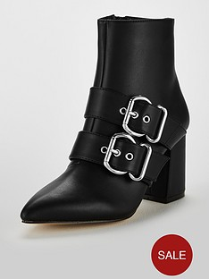 miss-selfridge-souble-buckle-pointed-boot-black