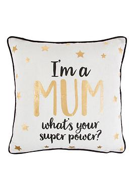 sass-belle-sass-and-belle-metallic-monochrome-im-a-mum-cushion