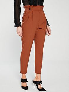 miss-selfridge-paperbag-trouser-rust