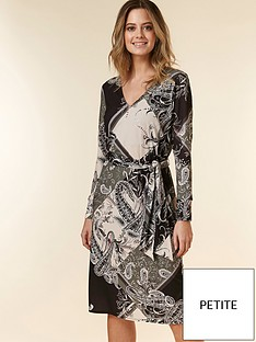 wallis-wallis-petite-patchwork-paisley-tie-dress