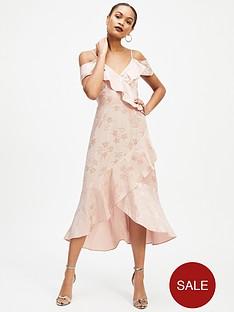 miss-selfridge-jacquard-cold-shoulder-dress-pale-pink