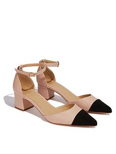 oasis-suede-toe-colour-blocked-pointed-blocked-heeled-shoes-nudeblack