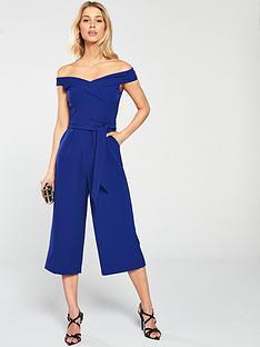 3b9558f3640 Oasis Bardot Jumpsuit - Blue