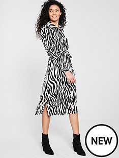 wallis-printed-buttoned-shirt-belted-dress-zebra
