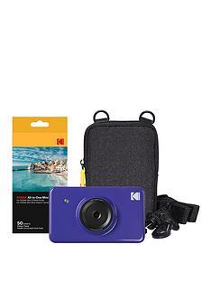 kodak-mini-shot-instant-camera-with-optional-50-pack-of-paper-andnbspblack-case-purple