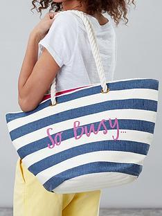 joules-stripe-so-busy-printed-beach-bag-cream