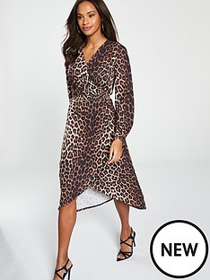 v-by-very-wrap-dress-animal-print