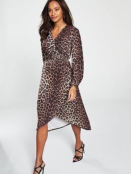 v-by-very-wrap-dress-animal-print