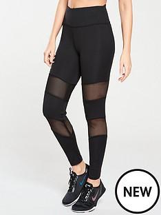 michelle-keegan-mesh-panel-gym-leggings-black