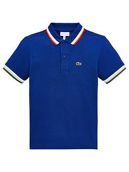 lacoste-boys-short-sleeve-tipped-pique-polo-shirt-blue