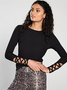 v-by-very-long-sleeve-lattice-detail-top-black