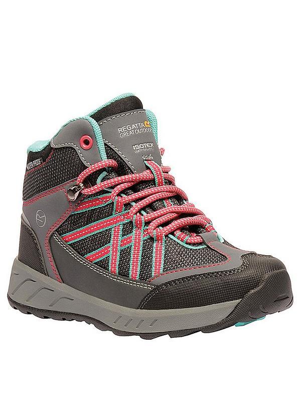 5d6ab1c62c9 Samaris Mid Junior Walking Boots - Grey/Pink/Blue
