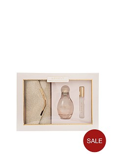 sarah-jessica-parker-lovely-100ml-edp-10ml-rollerballnbspwith-gold-clutch-bag-gift-set