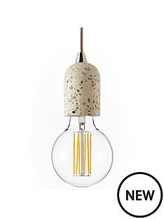 terrazzo-concrete-suspension-ceiling-light