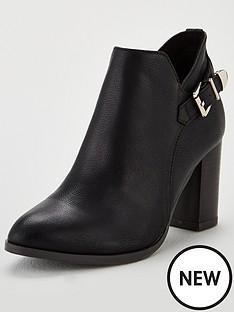wallis-anisha-buckle-detail-ankle-boots-black