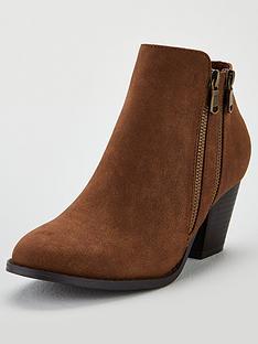 wallis-asteria-zip-detail-ankle-boots-tan