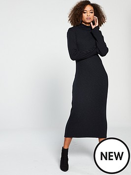 f87b687b86 V by Very Knitted Ribbed Jersey Dress
