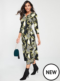 v-by-very-chain-print-collar-dress-multi