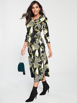 v-by-very-chain-print-collar-dress-multi